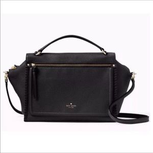 Kate Spade Ashby Place satchel, Black, NWT